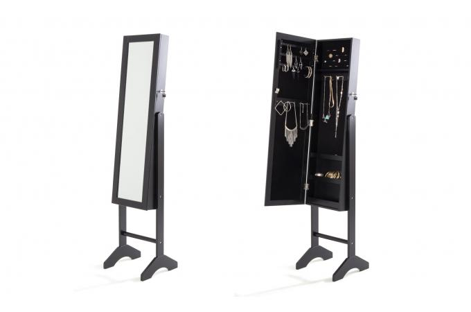miroir psych noir marlon miroir rectangulaire pas cher. Black Bedroom Furniture Sets. Home Design Ideas