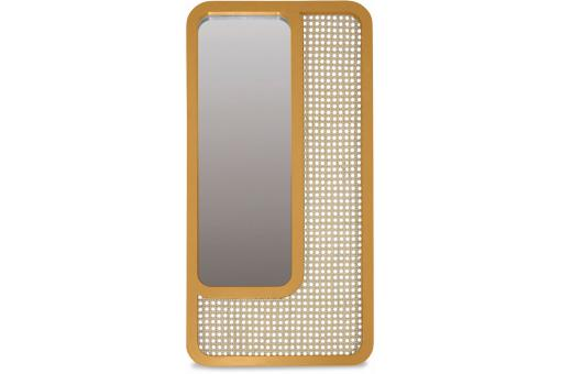 Miroir Rectangle Cannage Jaune SAVANNAH - Decoration murale design
