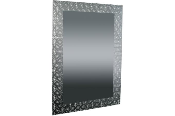 Miroir rectangulaire impression etoiles anthracite 90x60 for Miroir 90x60
