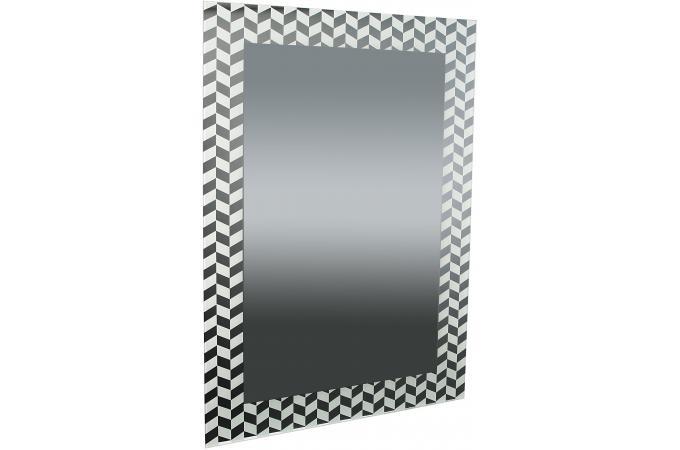 Miroir rectangulaire impression formes g om triques blanc for Impression en miroir