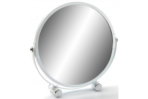 miroir sur pied rond grossissant x 5 blanc mex miroir rond et ovale pas cher. Black Bedroom Furniture Sets. Home Design Ideas