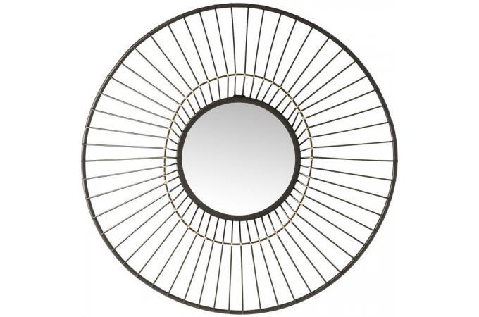 miroir soleil kare design d61cm saturnon miroir rond et. Black Bedroom Furniture Sets. Home Design Ideas