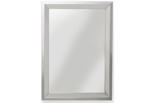 Miroir steel rim argent 105x75cm kare design miroir - Miroir argente pas cher ...