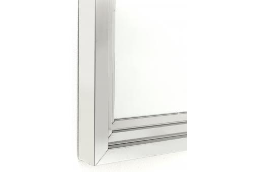 Miroir steel step argent 105x75cm miroir rectangulaire pas cher - Miroir argente rectangulaire ...