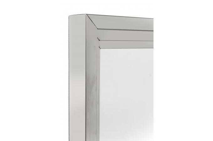 Miroir steel step argent 105x75cm miroir rectangulaire - Miroir rectangulaire pas cher ...
