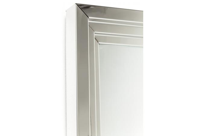 Miroir steel step argent 180x90cm kare design miroir - Miroir argente pas cher ...