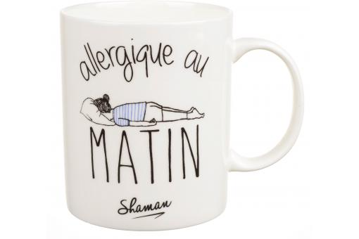 Mug Comique Allergique Au Matin Blanc D10 MORNING