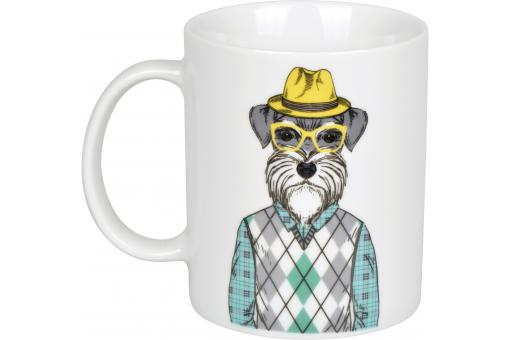 Mug Human Dog Blanc D8 ANIMALS