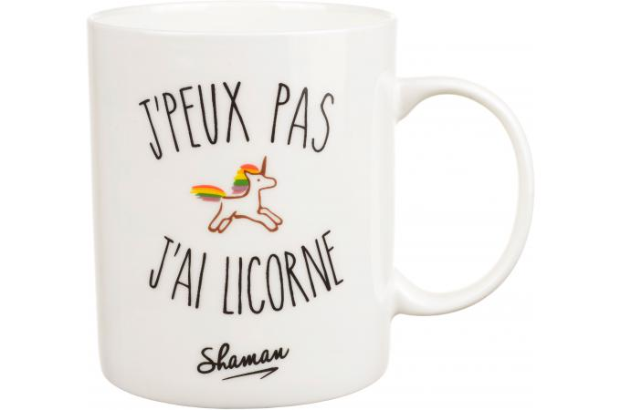 mug je peux pas j 39 ai licorne blanc d10 licorne mug. Black Bedroom Furniture Sets. Home Design Ideas
