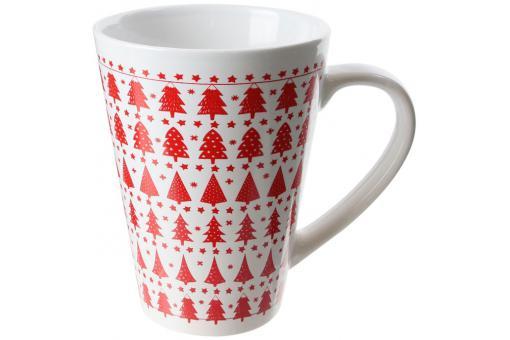 mug sapin blanc et rouge 33cl mug verre pas cher. Black Bedroom Furniture Sets. Home Design Ideas