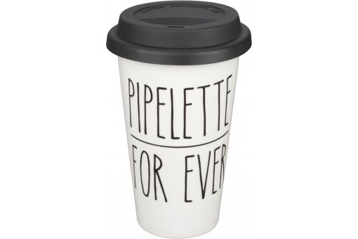 Mug Take Away Pipellette Forever Blanc TALKATIVE