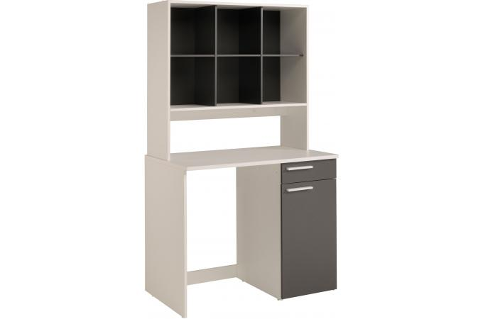 niche murale 6 niches blanc et gris banera meuble de rangement pas cher. Black Bedroom Furniture Sets. Home Design Ideas