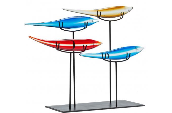 Objets d coratifs pesce colore statue design pas cher for Objets decoratifs cuisine
