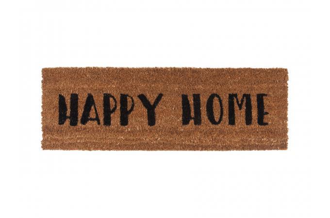 Paillasson Fibres Coco Noir Happy Home Dessouk Plus Dinfos