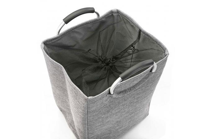 panier a linge en tissu anthracite h55 castare panier. Black Bedroom Furniture Sets. Home Design Ideas