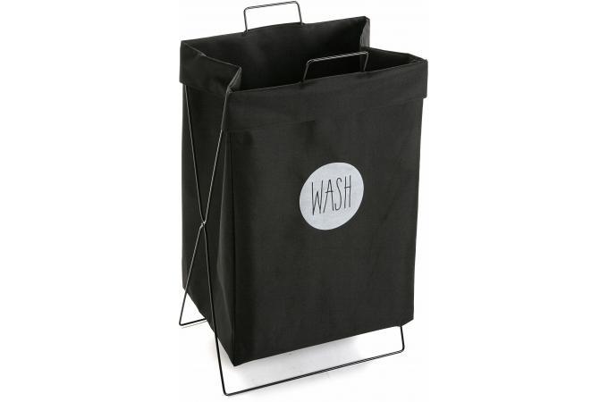 panier a linge noir impression wash erable panier linge pas cher. Black Bedroom Furniture Sets. Home Design Ideas