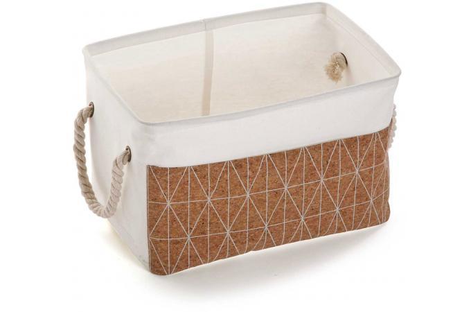 boite de rangement rectangulaire en tissu blanc l26 malacha panier linge pas cher. Black Bedroom Furniture Sets. Home Design Ideas