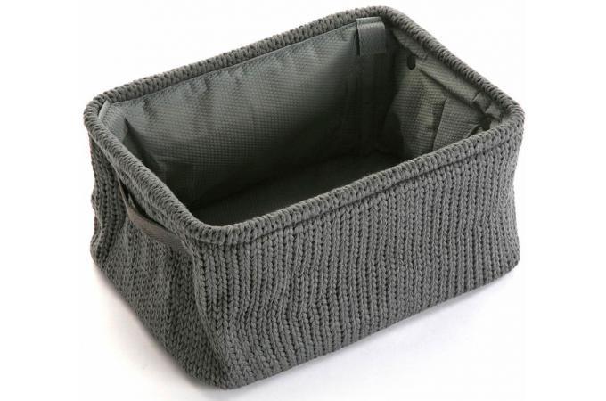 panier en tissu anthracite vigo bo te de rangement pas cher. Black Bedroom Furniture Sets. Home Design Ideas