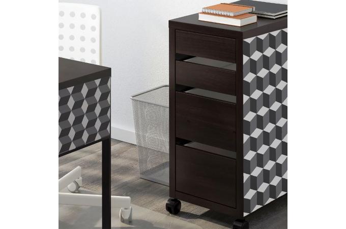 papier peint 3d cubes ligo papier peint trompe l 39 oeil. Black Bedroom Furniture Sets. Home Design Ideas