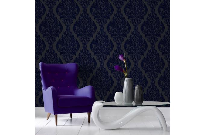 papier peint baroque vintage bleu papier peint ville pas. Black Bedroom Furniture Sets. Home Design Ideas