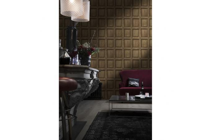 papier peint boiserie anglaise ch ne fonc limos papier. Black Bedroom Furniture Sets. Home Design Ideas