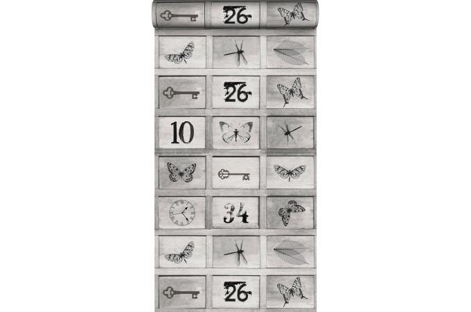 papier peint casier gris papier peint trompe l 39 oeil pas cher. Black Bedroom Furniture Sets. Home Design Ideas