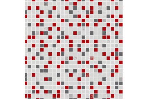 Papier Peint Checker Rouge