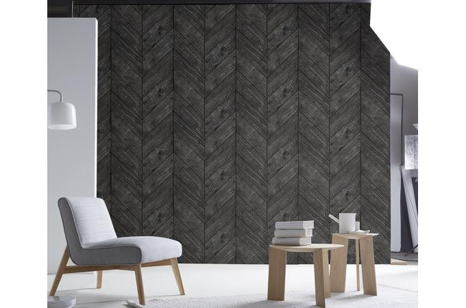 papier peint chevrons bois br l holz papier peint bois m tal pas cher. Black Bedroom Furniture Sets. Home Design Ideas