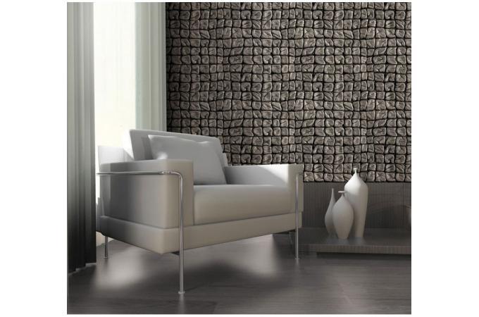 papier peint cuir travaill papier peint trompe l 39 oeil. Black Bedroom Furniture Sets. Home Design Ideas
