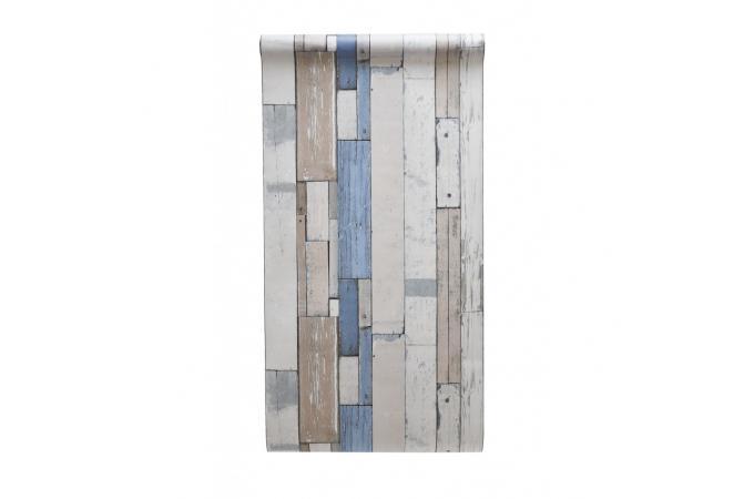 papier peint effet bois blanc et bleu luke papier peint. Black Bedroom Furniture Sets. Home Design Ideas