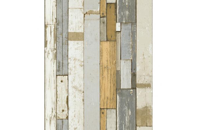 papier peint effet bois gris et orange luke papier peint. Black Bedroom Furniture Sets. Home Design Ideas