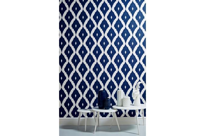 papier peint jacquard bleu papier peint zen pas cher. Black Bedroom Furniture Sets. Home Design Ideas