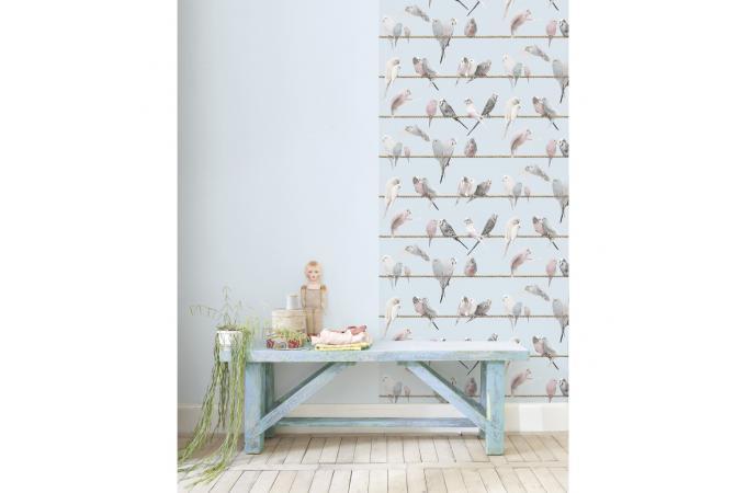 papier peint les ins parables bleu ciel selene papier peint zen pas cher. Black Bedroom Furniture Sets. Home Design Ideas