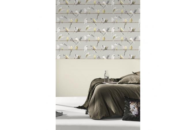papier peint les ins parables gris chaud selene papier peint zen pas cher. Black Bedroom Furniture Sets. Home Design Ideas