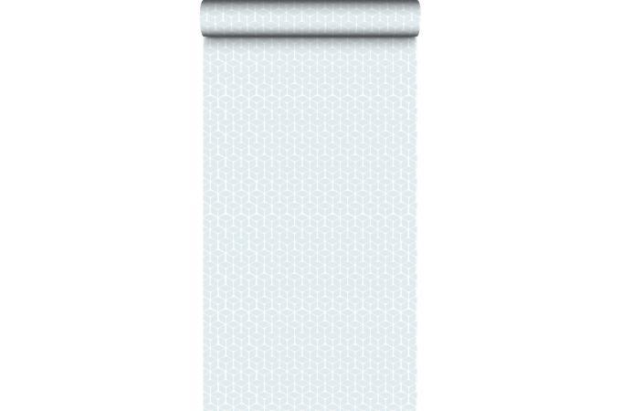 papier peint origami cube bleu baltique papier peint zen pas cher. Black Bedroom Furniture Sets. Home Design Ideas
