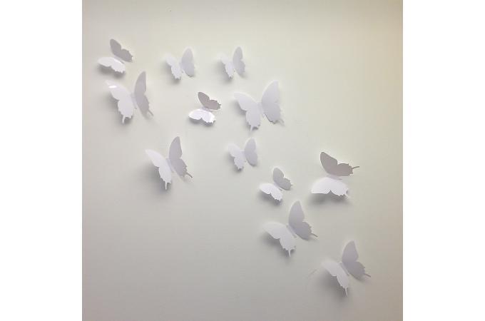 papier peint papillons 3d flying papier peint zen pas cher. Black Bedroom Furniture Sets. Home Design Ideas
