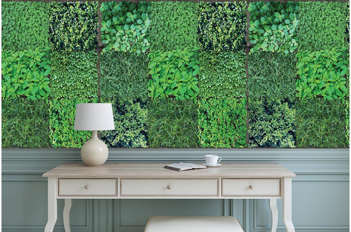 Papier Peint Trompe L Oeil Porte Placard papier peint vert naturely plus d'infos