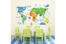Papier Peint World Map BIGGY - Papier peint design