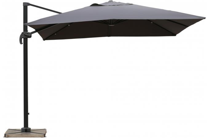 Parasol d port gris en toile allan parasol pas cher - Toile de parasol deporte ...