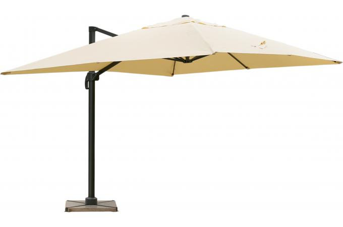 parasol d port rectangulaire beige en toile alberick parasol pas cher. Black Bedroom Furniture Sets. Home Design Ideas