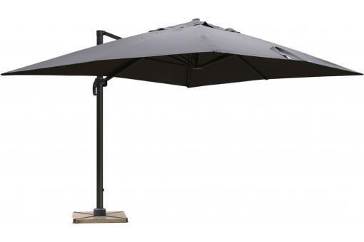 Parasol d port rectangulaire gris fonc en toile alberick - Toile de parasol deporte ...