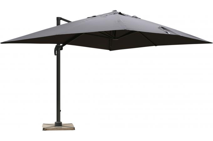 parasol d port rectangulaire gris fonc en toile alberick parasol pas cher. Black Bedroom Furniture Sets. Home Design Ideas