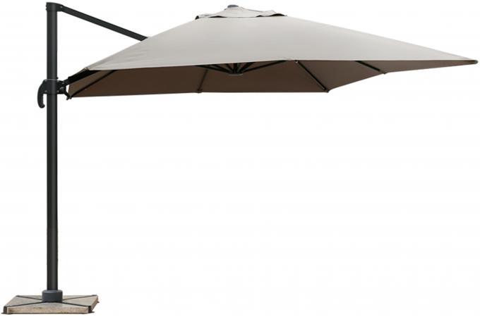 parasol d port rectangulaire taupe en toile alberick parasol pas cher. Black Bedroom Furniture Sets. Home Design Ideas