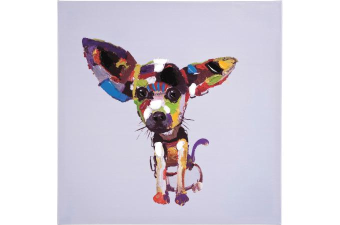 peinture multicolore en toile steffi tableau animaux pas cher. Black Bedroom Furniture Sets. Home Design Ideas