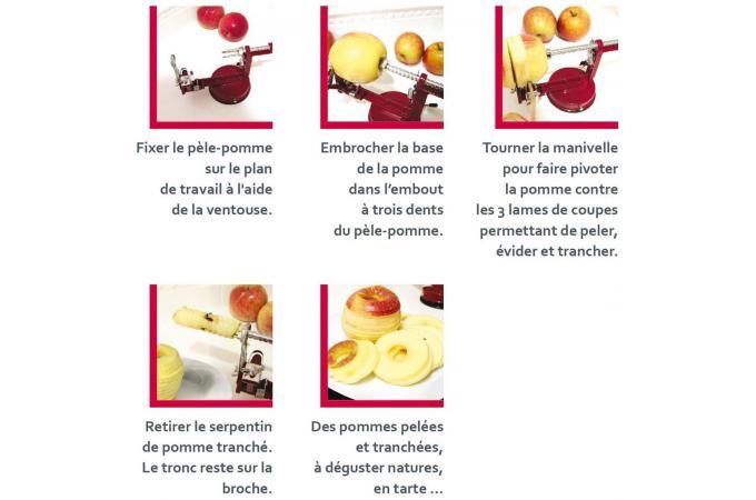 Pele pomme rouge accessoires cuisine sali re gant for Accessoire cuisine rouge