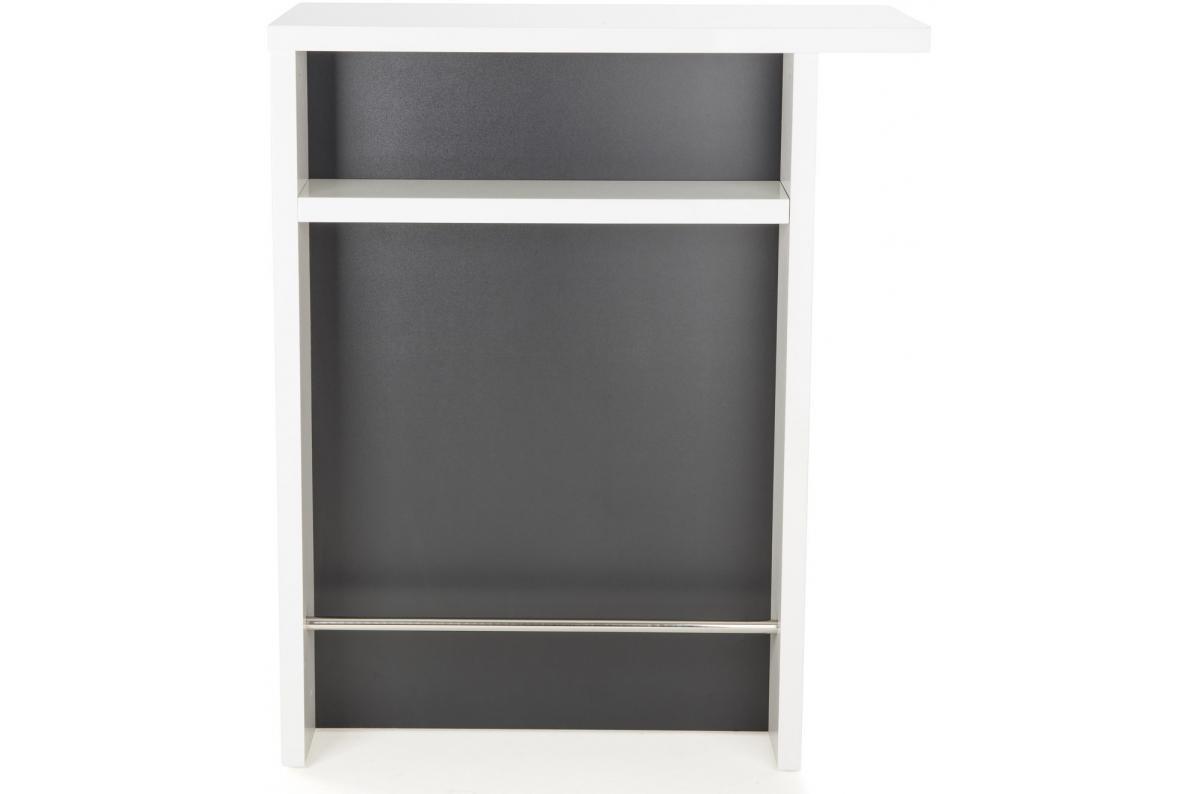 Objet Deco Laque Blanc petit bar laqué blanc et gris glass plus d'infos