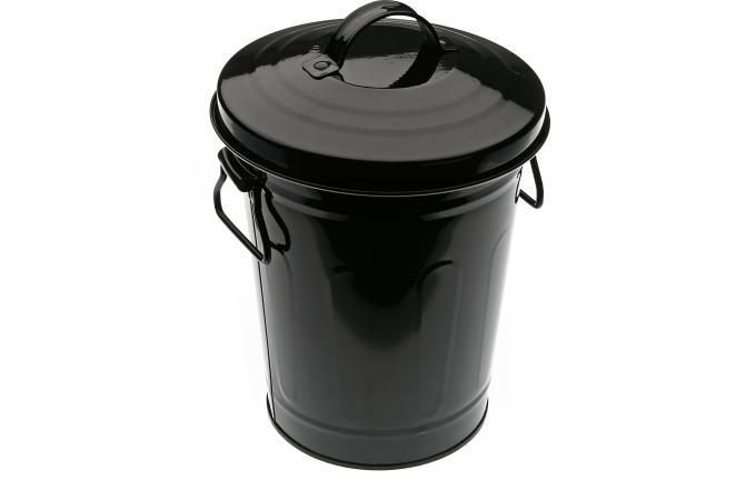 petite poubelle 3l noire avec couvercle dusb poubelle design pas cher. Black Bedroom Furniture Sets. Home Design Ideas