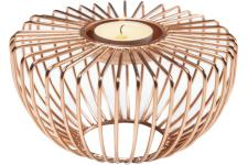Photophore KARE DESIGN Rond Or Rose WIRE - Bougie et photophore design