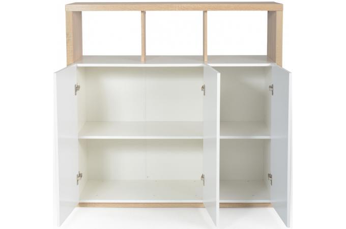 placard 3 portes ch ne griff blanc meuble de rangement pas cher. Black Bedroom Furniture Sets. Home Design Ideas