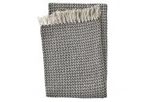 Plaid en Coton Noir Beige RABAT - Plaid design